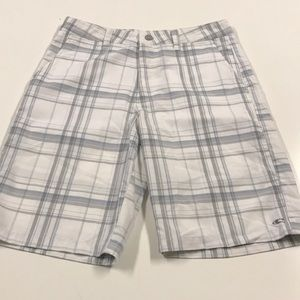 O'NEILL Mens 31 White Plaid Shorts